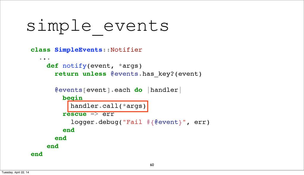 60 class SimpleEvents::Notifier ... def notify(...