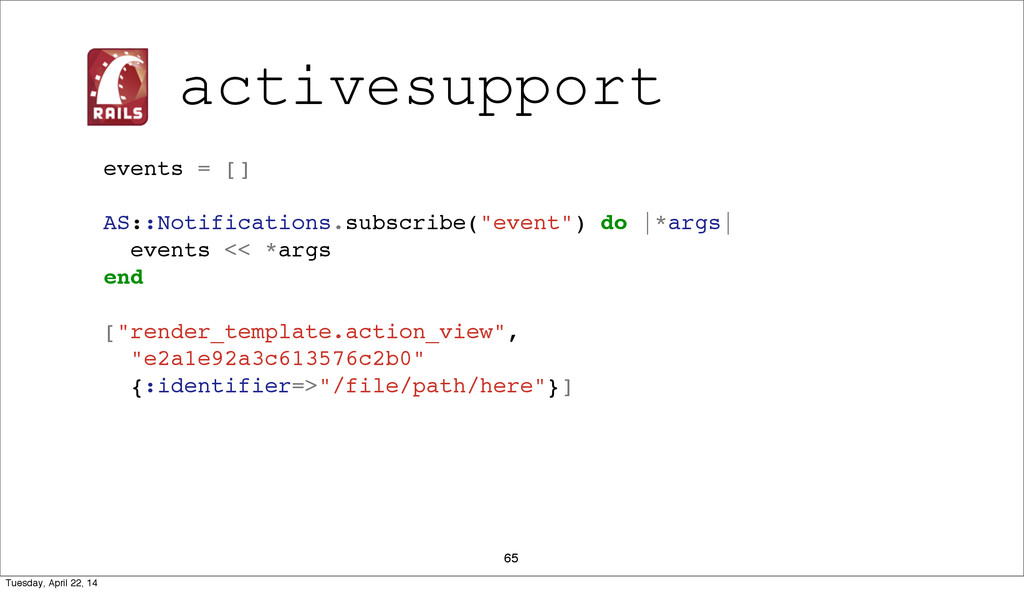 """65 events = [] AS::Notifications.subscribe(""""eve..."""