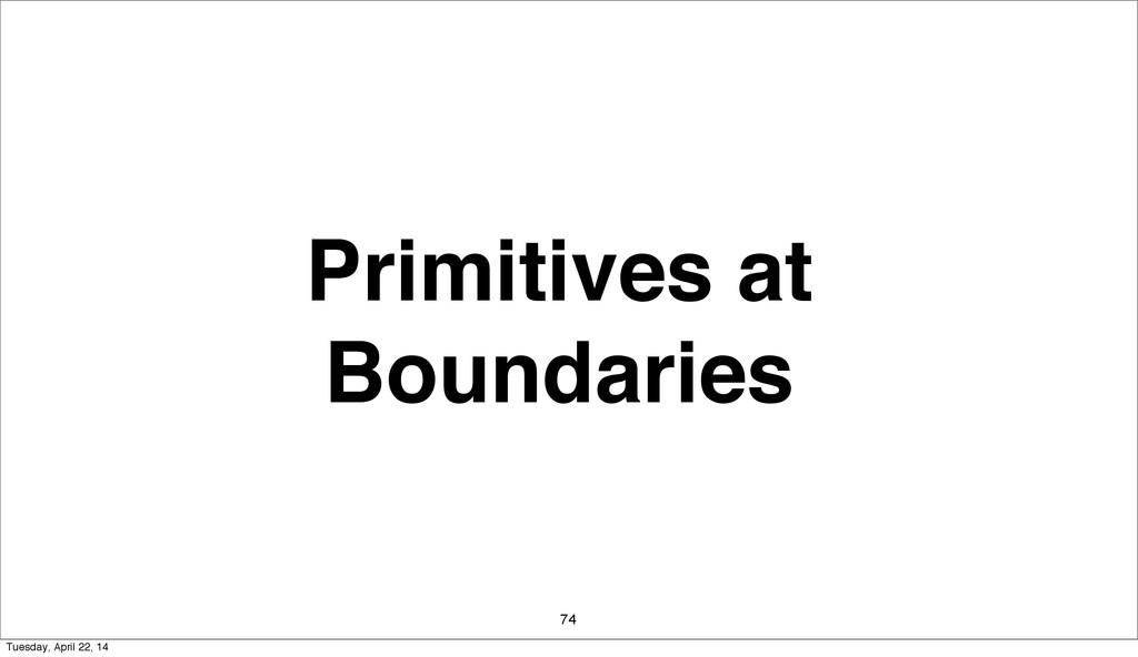 Primitives at Boundaries 74 Tuesday, April 22, ...