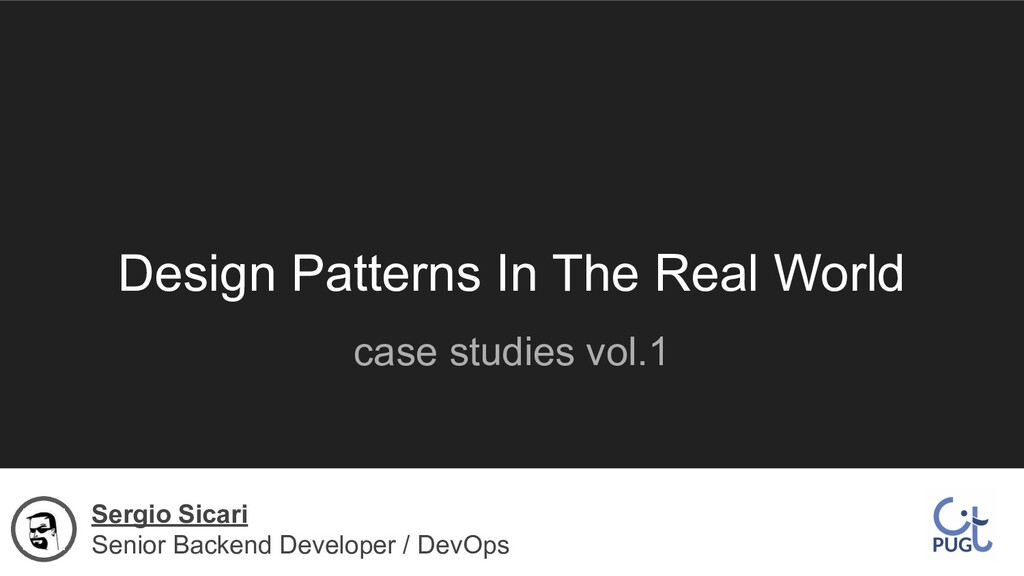 Design Patterns In The Real World case studies ...
