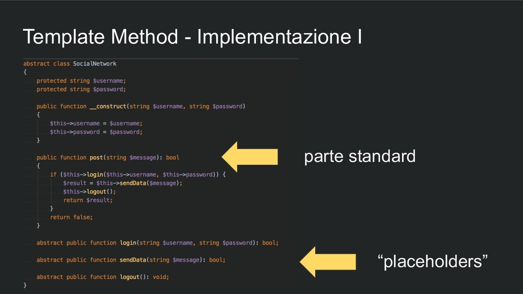 Template Method - Implementazione I parte stand...