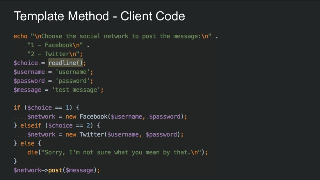 Template Method - Client Code