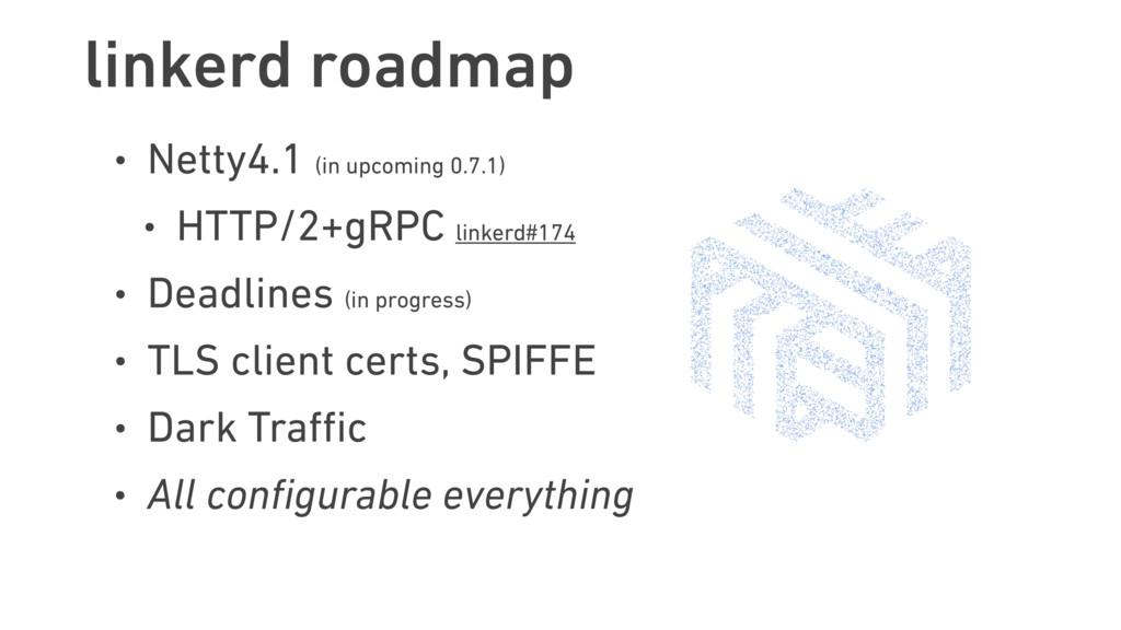 linkerd roadmap • Netty4.1 (in upcoming 0.7.1) ...