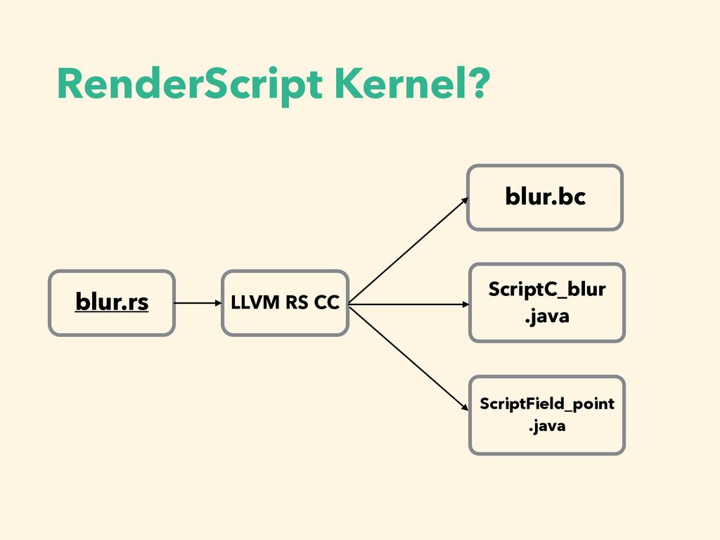 RenderScript Kernel? blur.rs LLVM RS CC blur.bc...