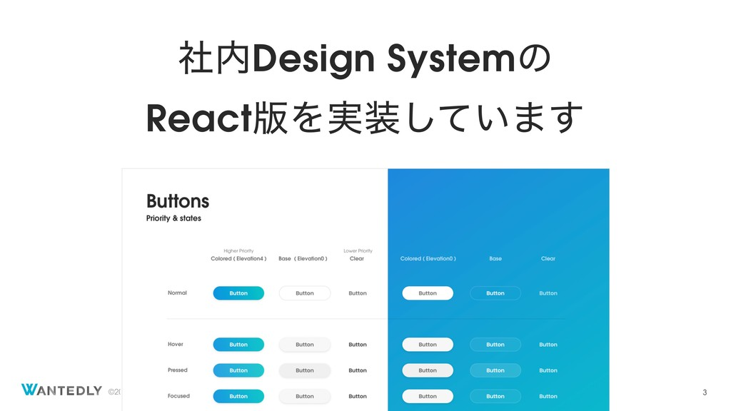 ©2018 Wantedly, Inc. ࣾDesign Systemͷ React൛Λ࣮...
