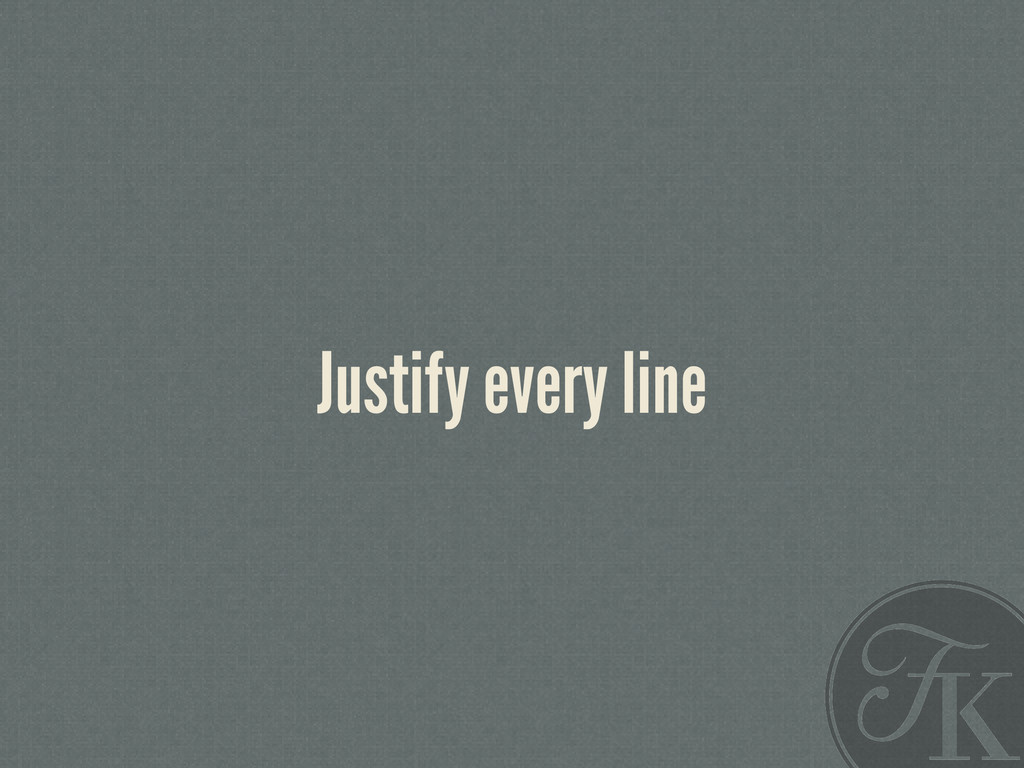 Justify every line