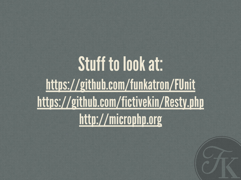 Stuff to look at: https://github.com/funkatron/...