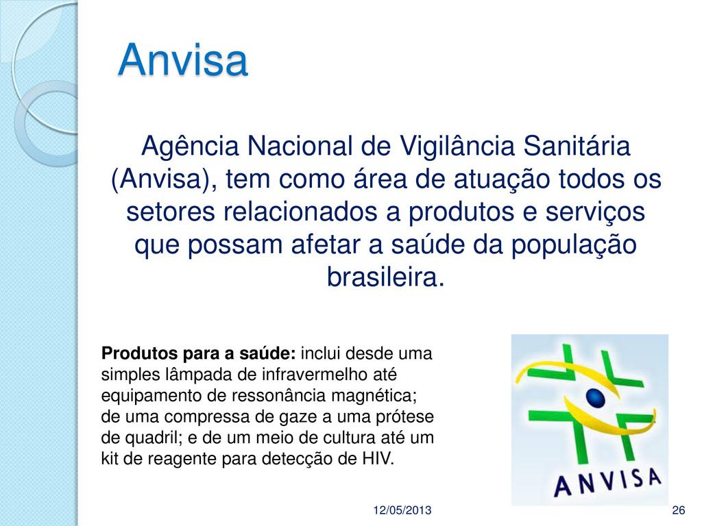 Anvisa 12/05/2013 26 Agência Nacional de Vigilâ...