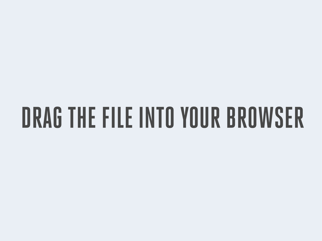 DRAG THE FILE INTO YOUR BROWSER