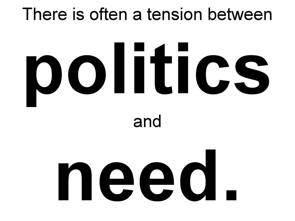 There is often a tension between politics and n...