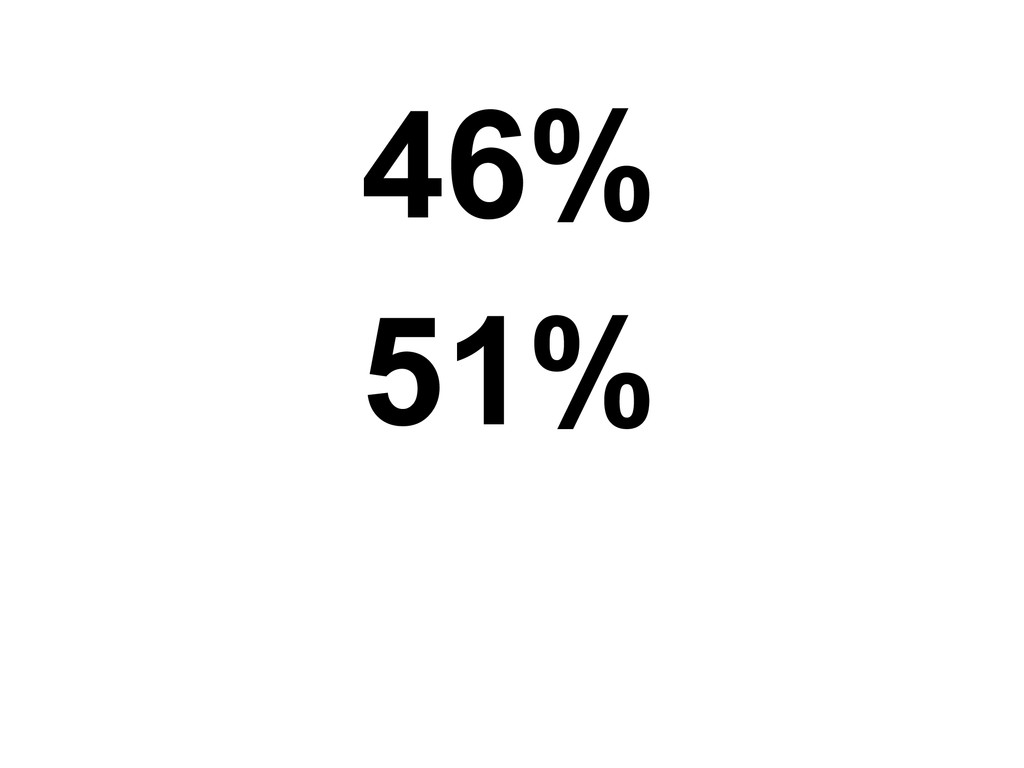 46% 51%