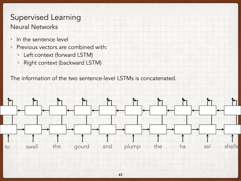 43 Supervised Learning Neural Networks • In the...