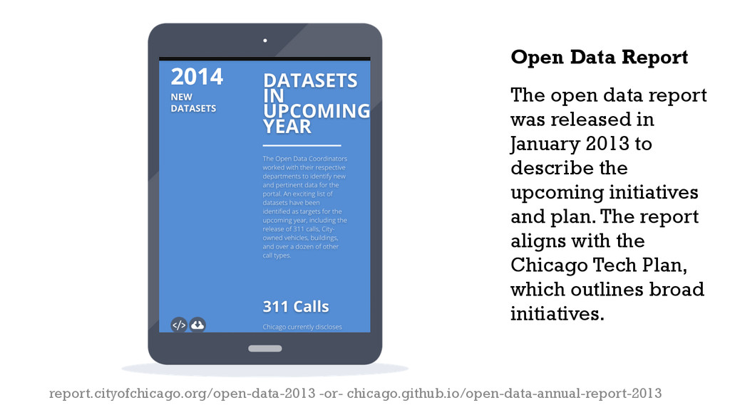The open data report was released in January 20...