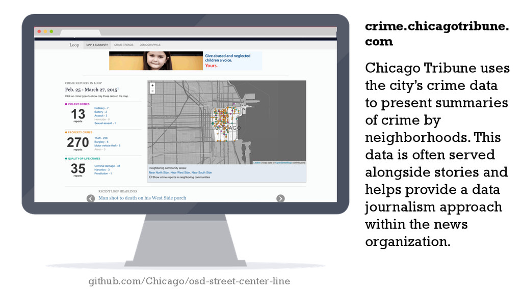 Chicago Tribune uses the city's crime data to p...