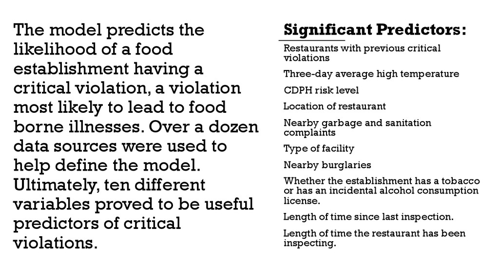 Restaurants with previous critical violations T...