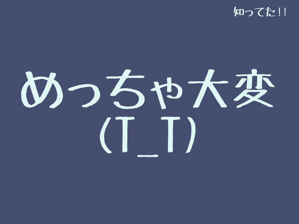 めっちゃ大変 (T_T) 知ってた!!