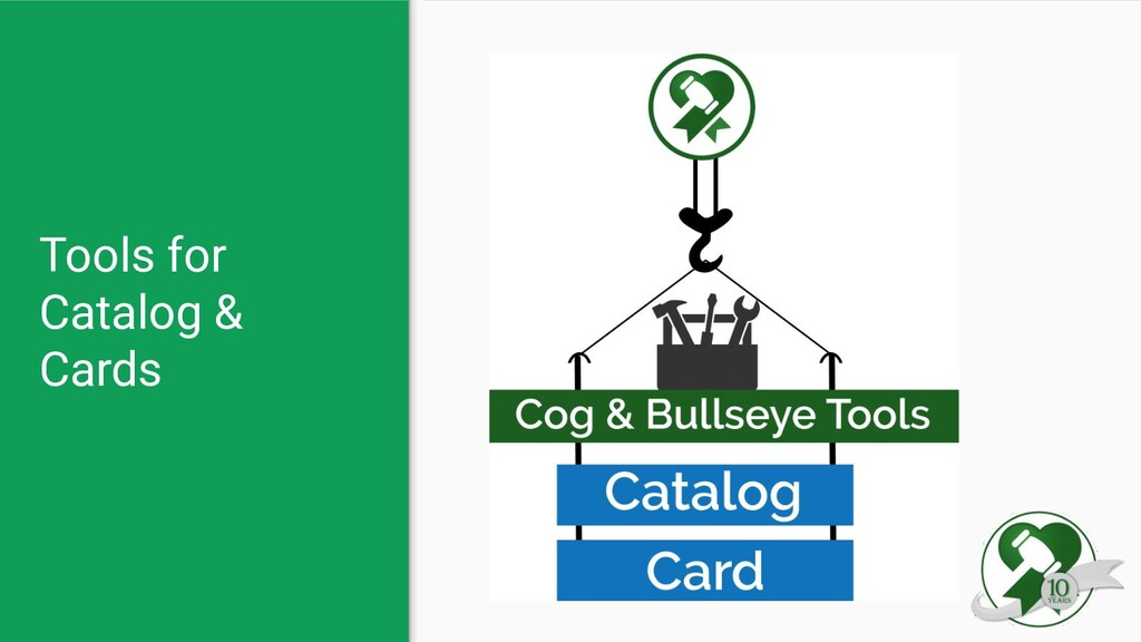 Tools for Catalog & Cards