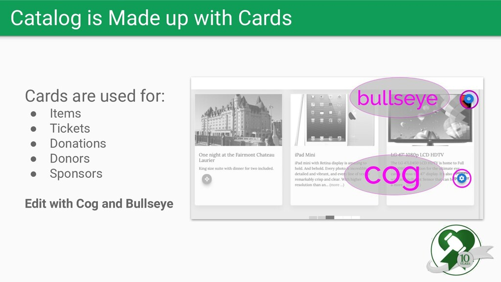 Catalog is Made up with Cards Cards are used fo...