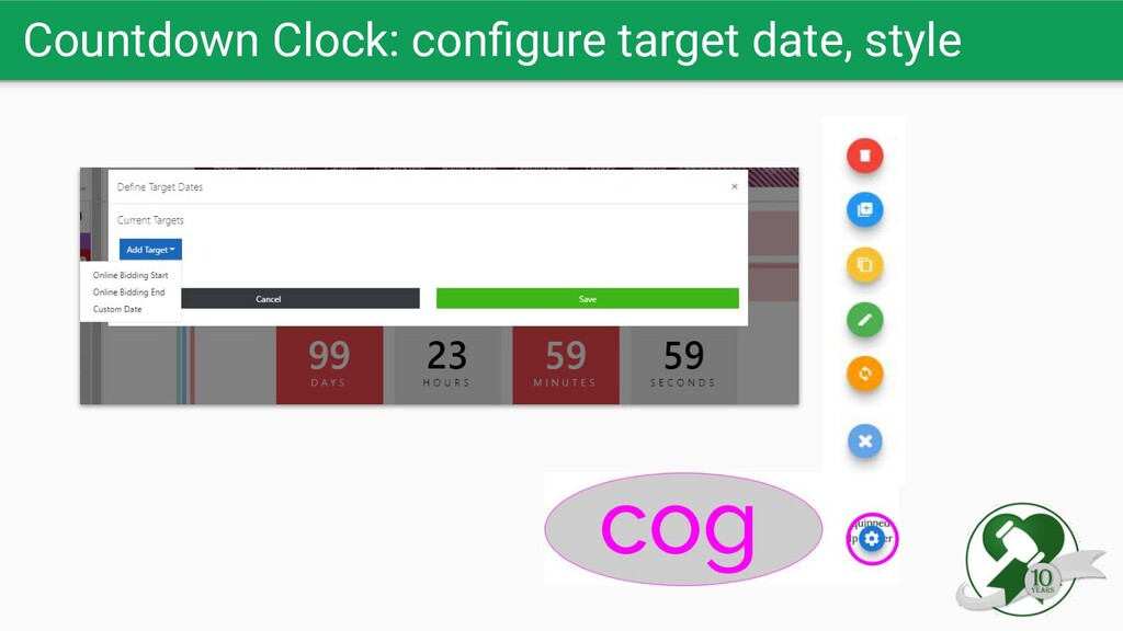 Countdown Clock: configure target date, style