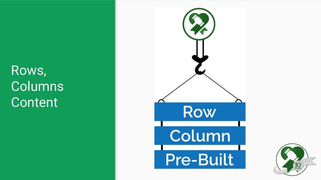 Rows, Columns Content