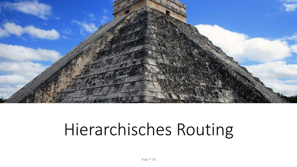 Hierarchisches Routing Page ▪ 28