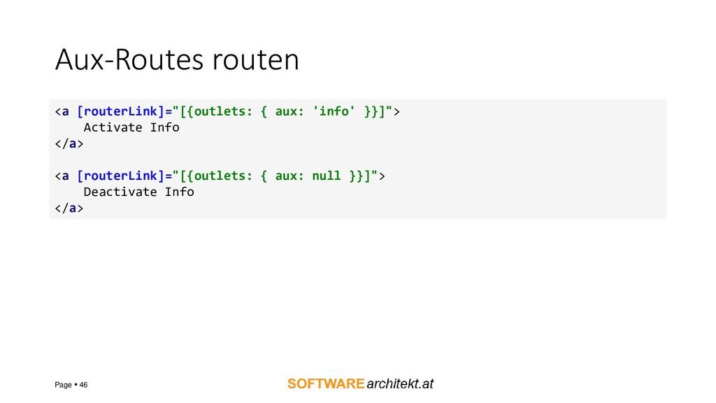 """Aux-Routes routen Page ▪ 46 <a [routerLink]=""""[{..."""