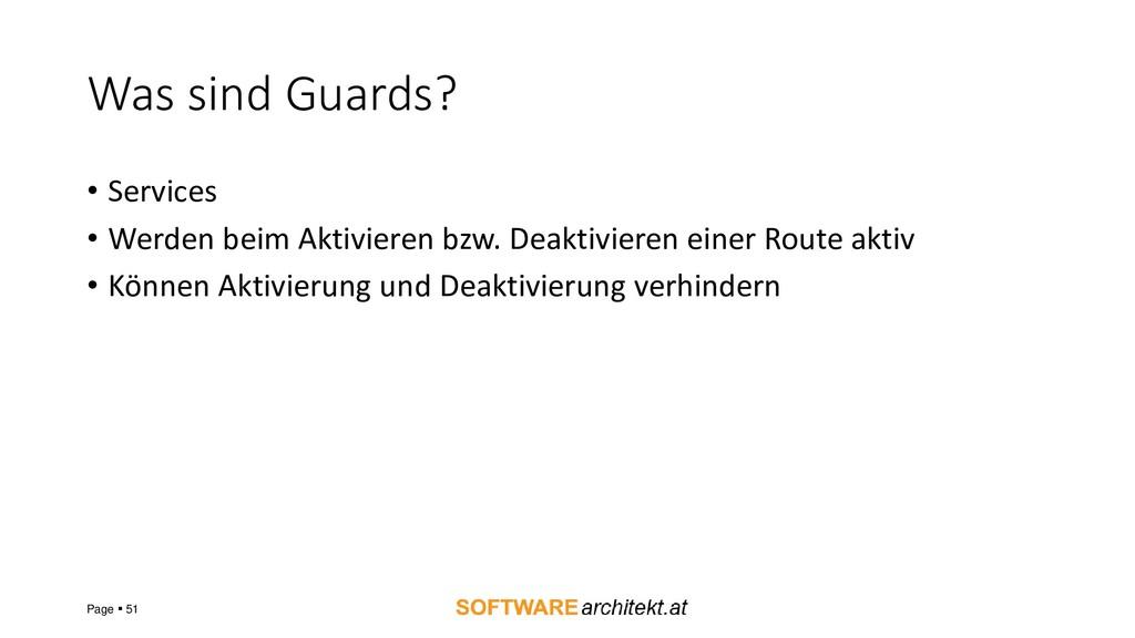 Was sind Guards? • Services • Werden beim Aktiv...