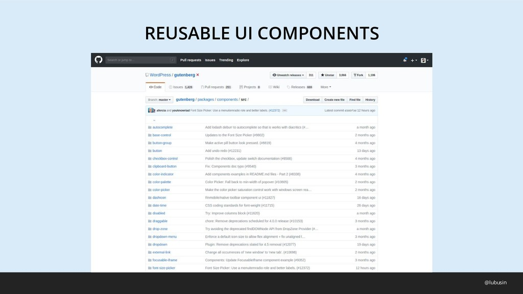 REUSABLE UI COMPONENTS @lubusin