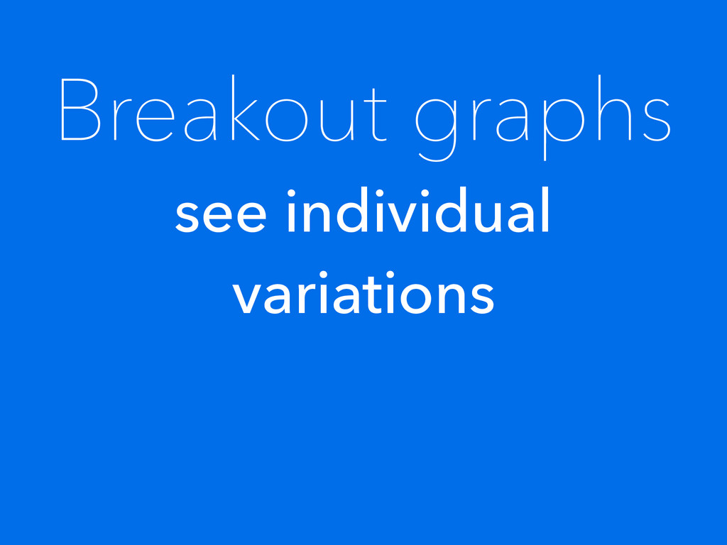 Breakout graphs see individual variations