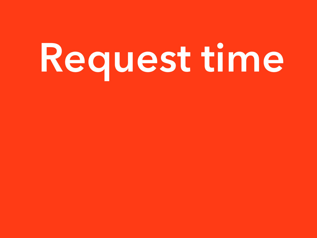 Request time
