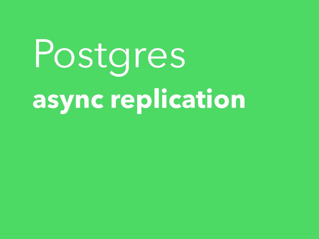Postgres async replication