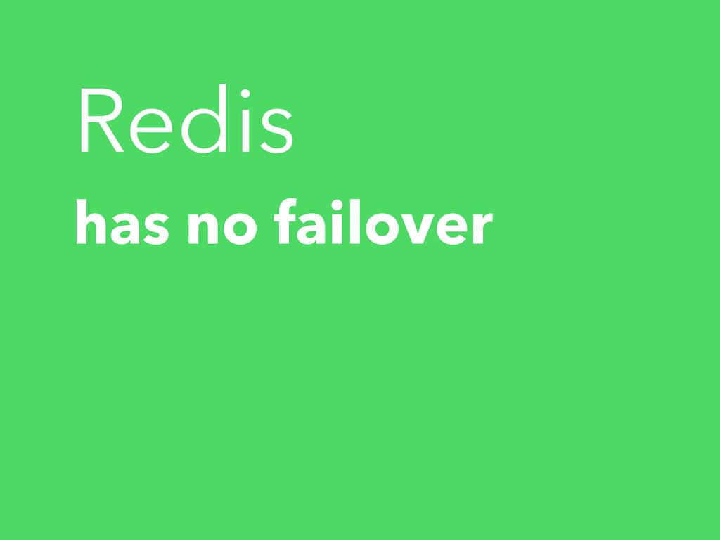 Redis has no failover