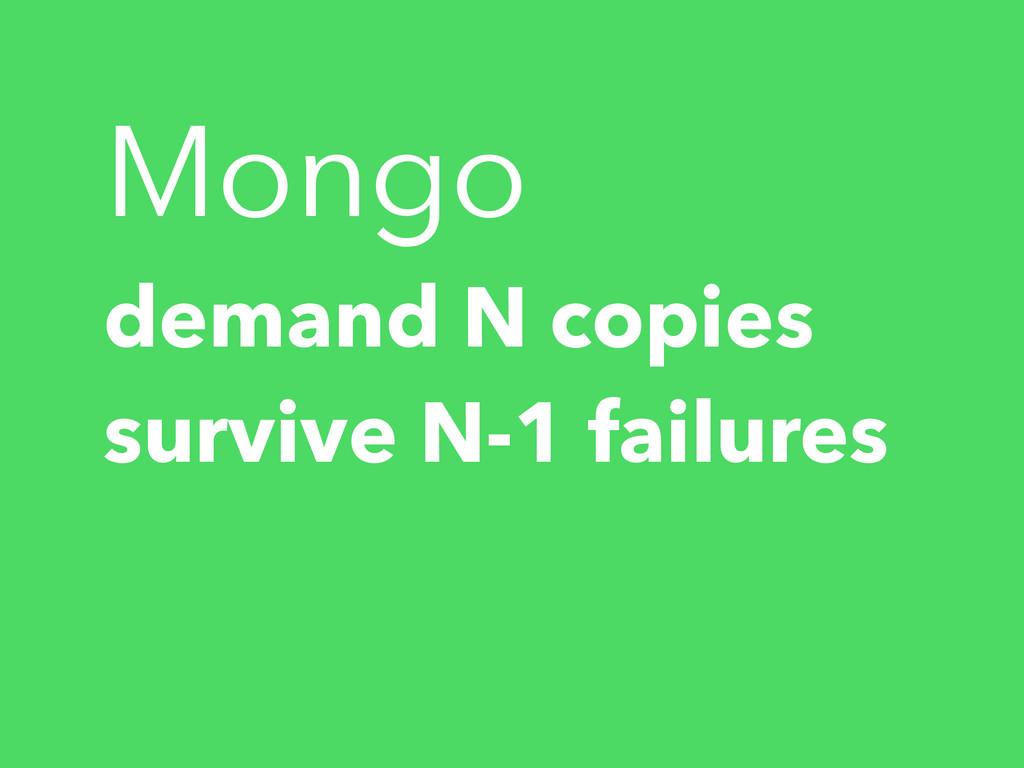 Mongo demand N copies survive N-1 failures