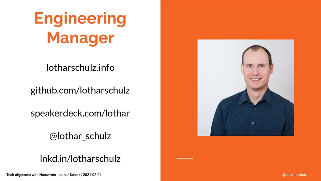 Engineering Manager lotharschulz.info github.co...