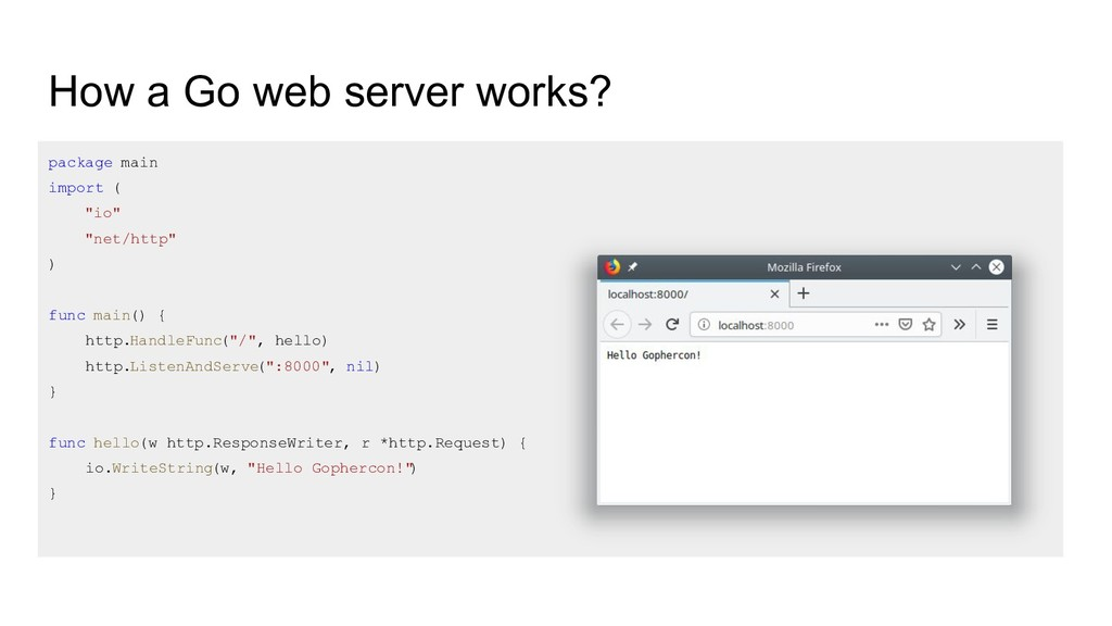 How a Go web server works? package main import ...
