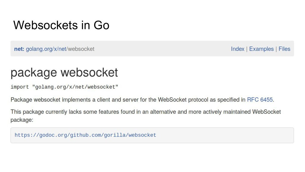 Websockets in Go