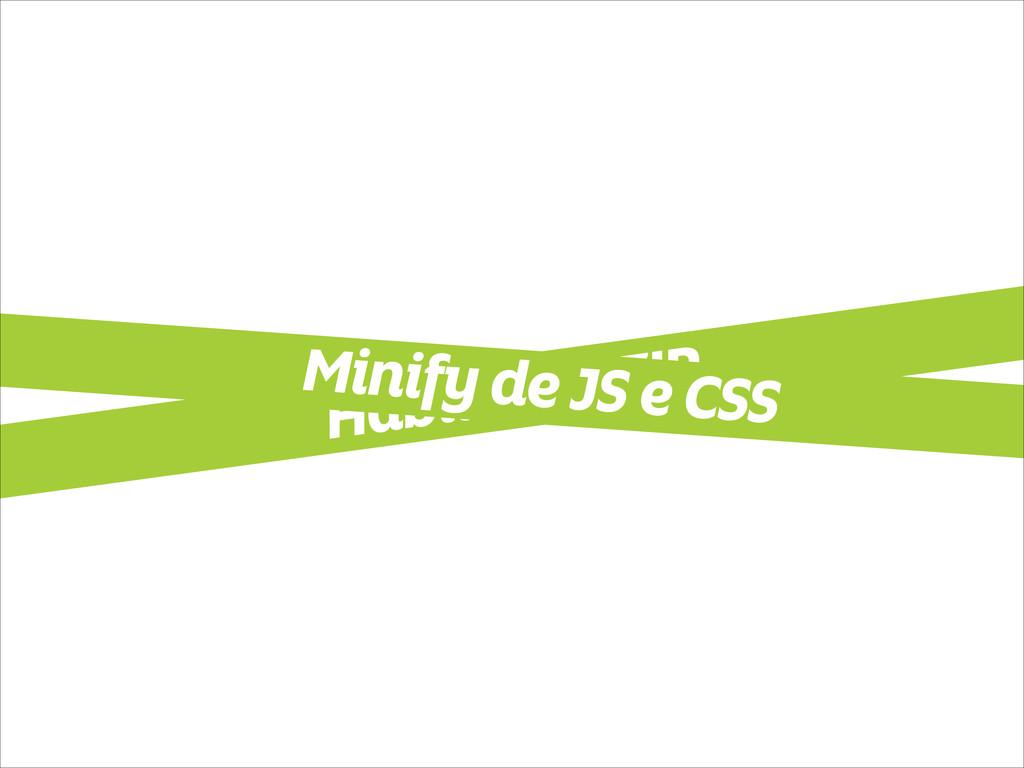 Habilitar GZIP Minify de JS e CSS