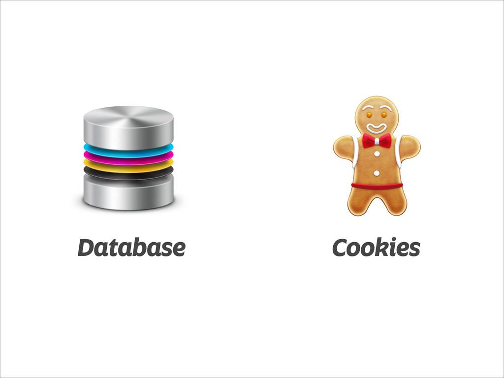 Database Cookies