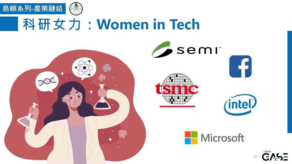 12 島嶼系列-產業鏈結 科研女力:Women in Tech