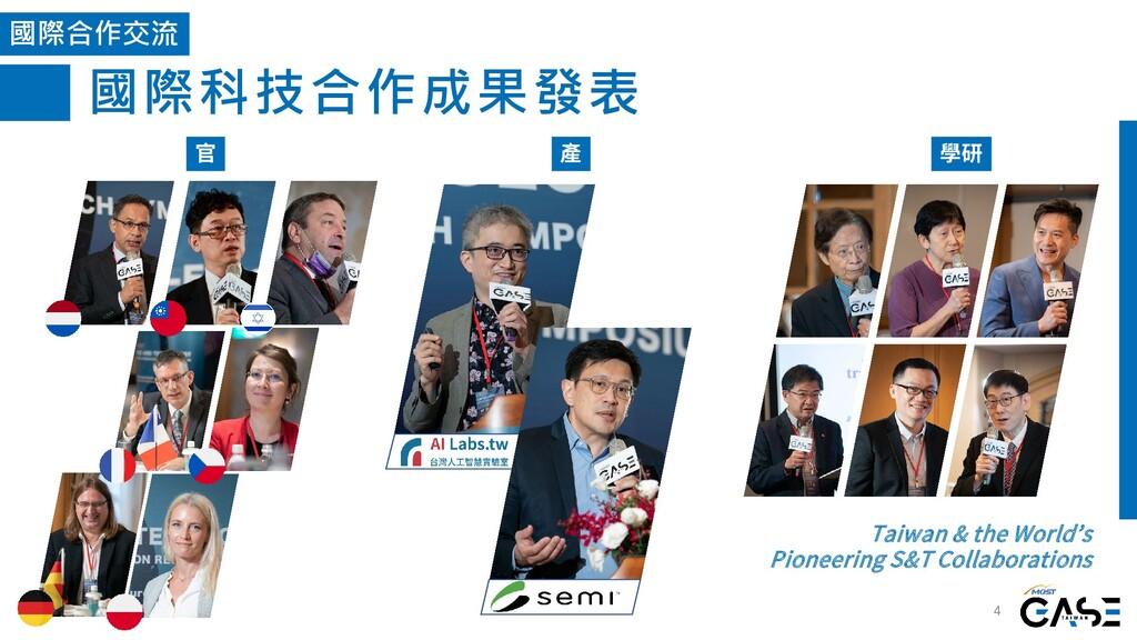 國際科技合作成果發表 4 國際合作交流 官 產 學研 Taiwan & the World's...