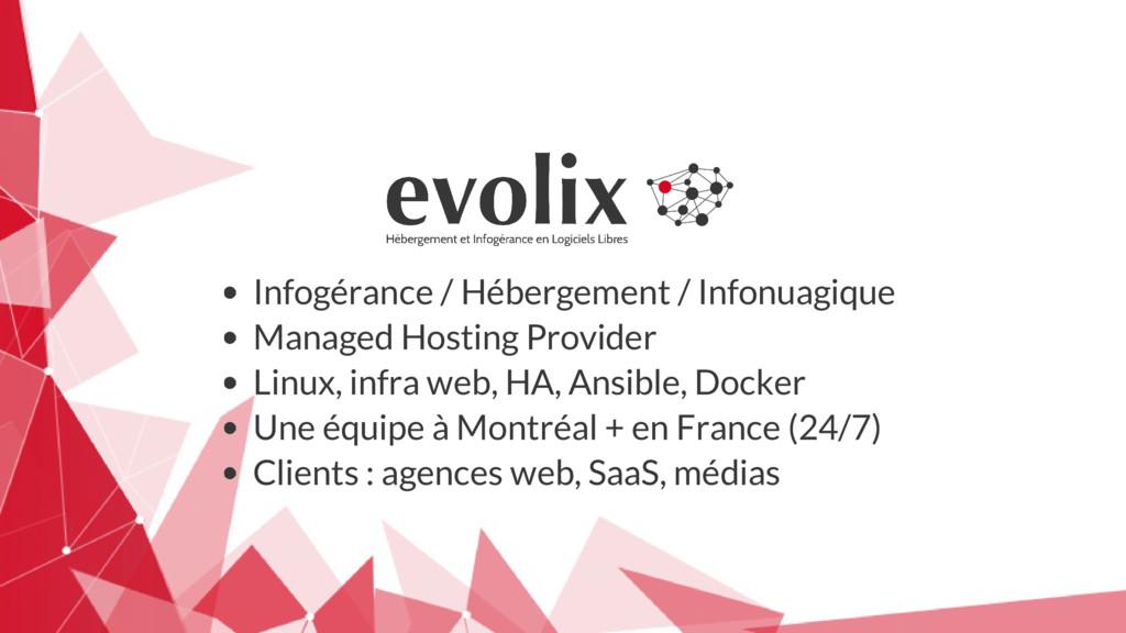 Infogérance / Hébergement / Infonuagique Manage...