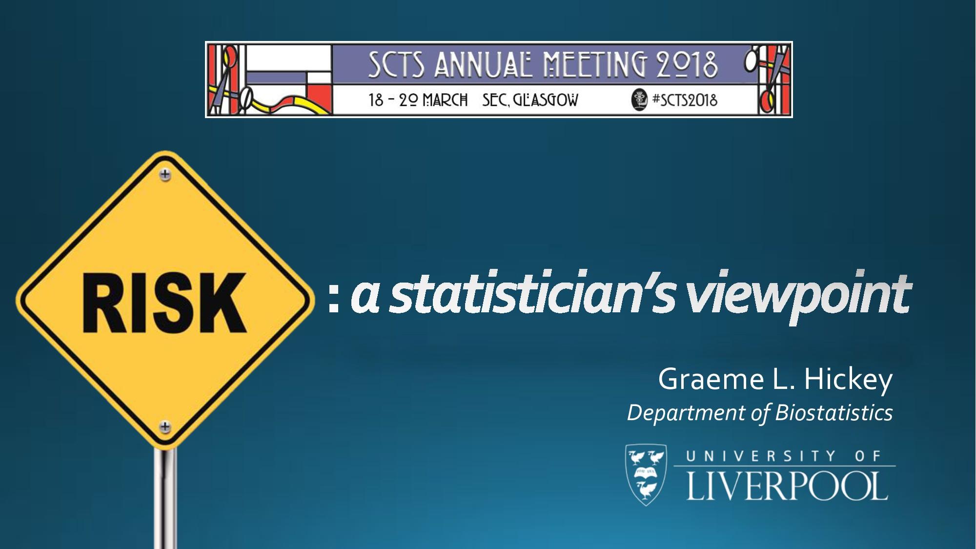 Graeme L. Hickey Department of Biostatistics
