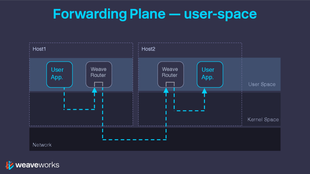 Forwarding Plane — user-space User Space Kernel...