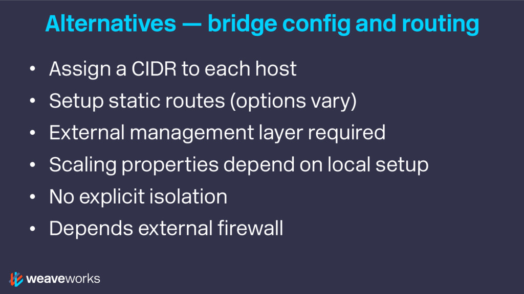 Alternatives — bridge config and routing • Assi...
