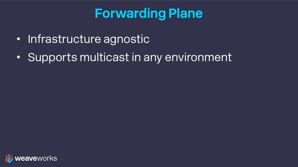 Forwarding Plane • Infrastructure agnostic • Su...