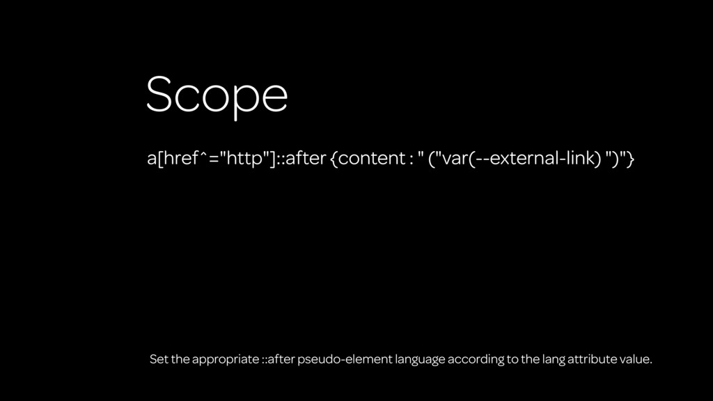 "Scope a[href^=""http""]::after {content : "" (""var..."