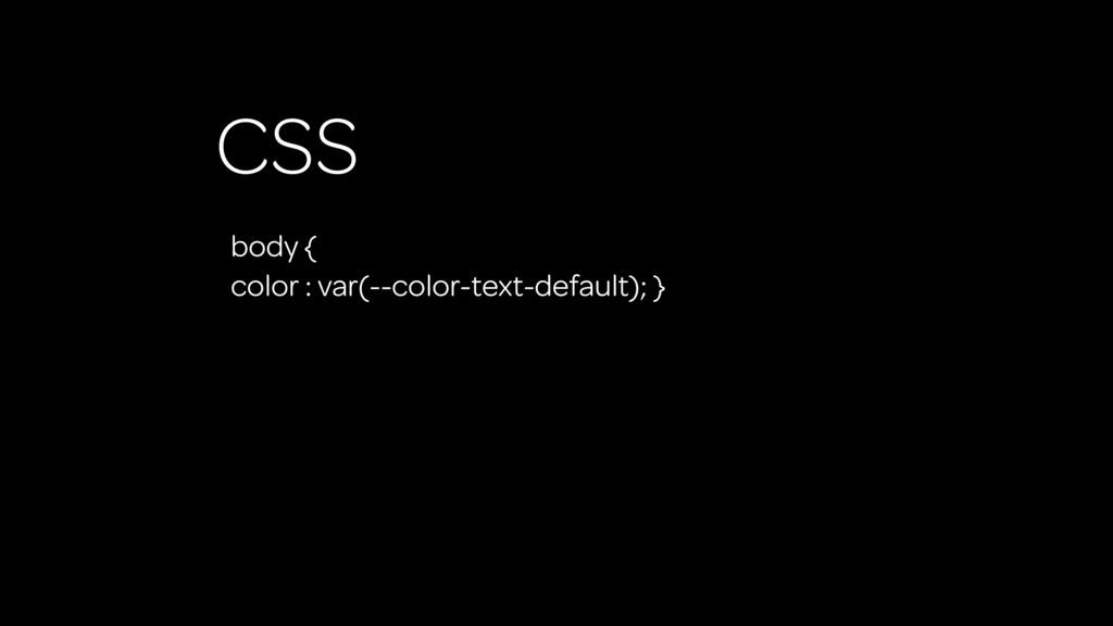 CSS body { color : var(--color-text-default); }
