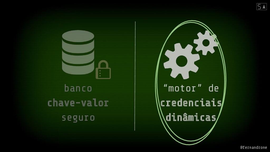 """banco chave-valor seguro """"motor"""" de credenciais..."""