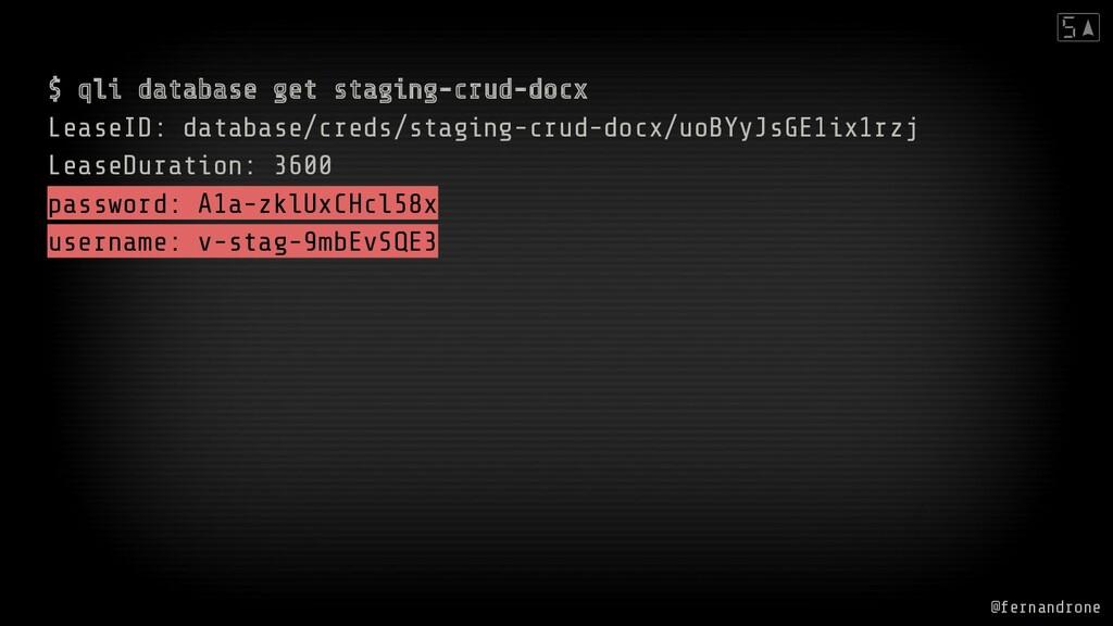 $ qli database get staging-crud-docx LeaseID: d...