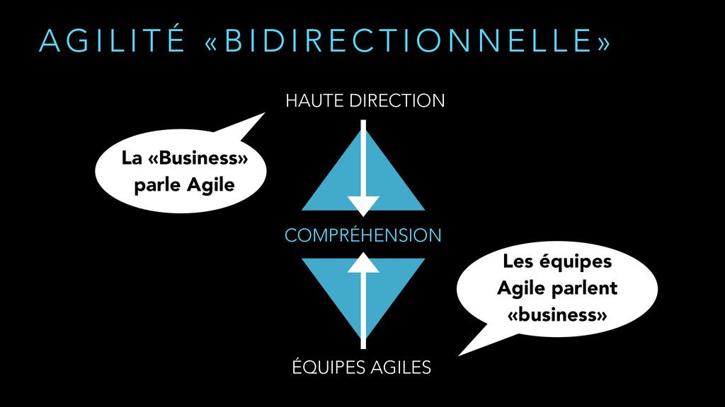 COMPRÉHENSION HAUTE DIRECTION ÉQUIPES AGILES A ...